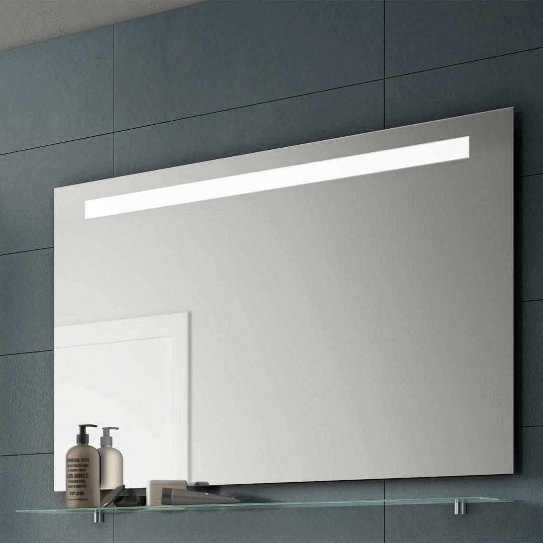 specialisti del bagno specchio con fascia led superiore, l:80xh67,5 specialistidelbagno