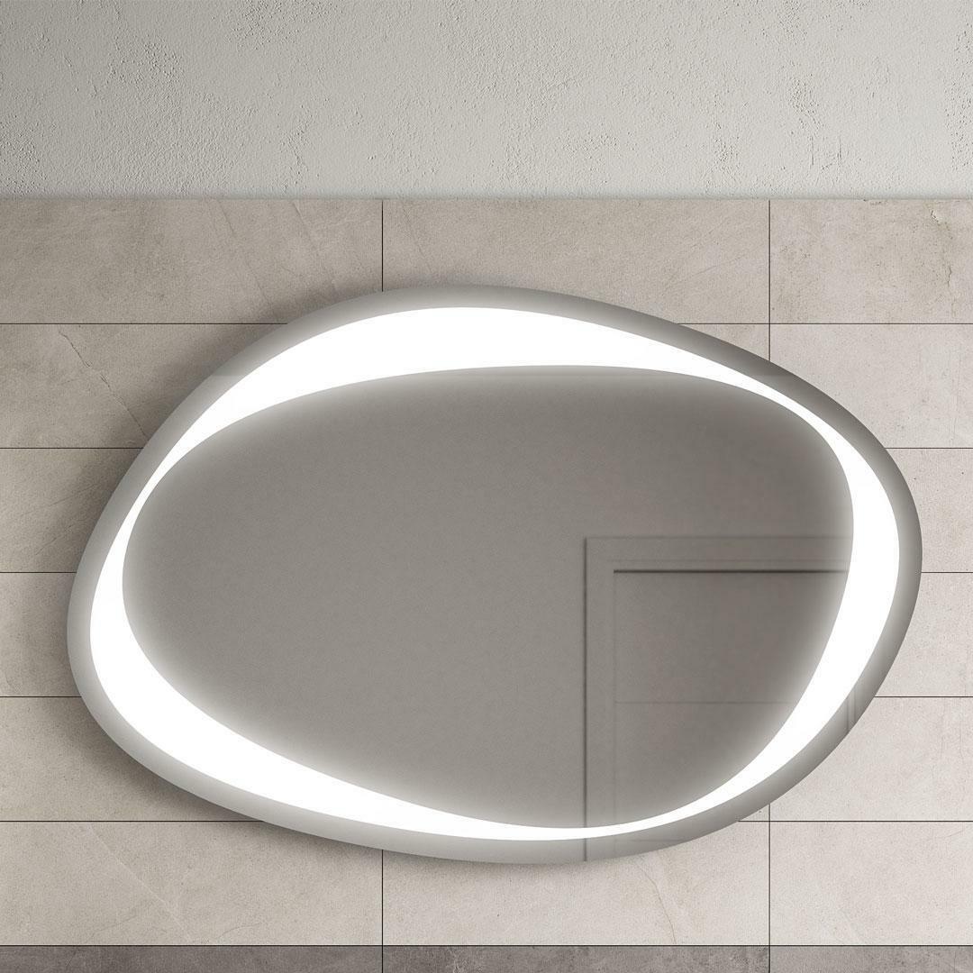 specialisti del bagno specchio contornato di luce led, l:110xh74,5 specialistidelbagno