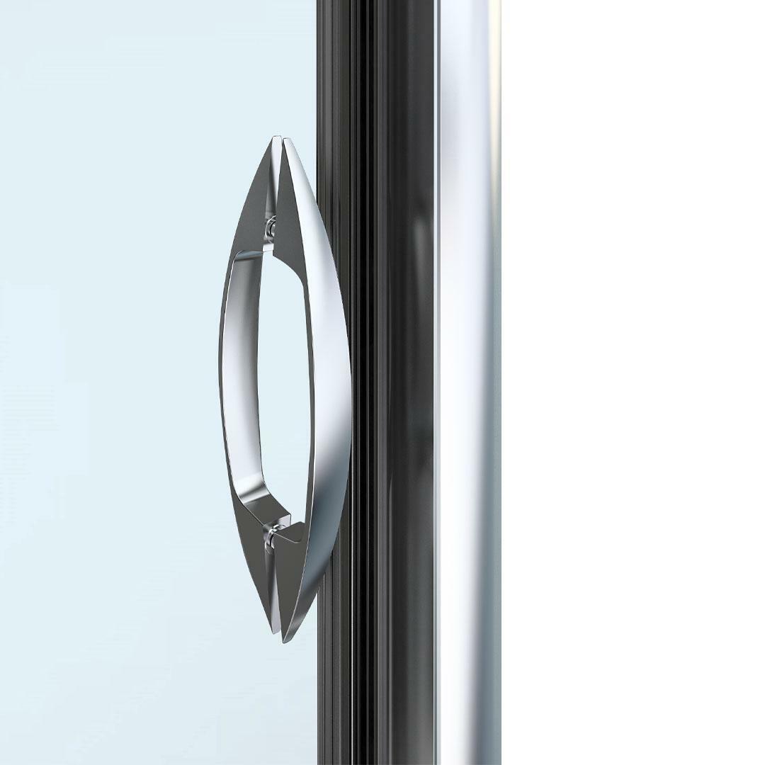 specialisti del bagno box doccia malaga porta scorrevole e lato fisso 90x150 reversibile trasp. specialistidelbagno
