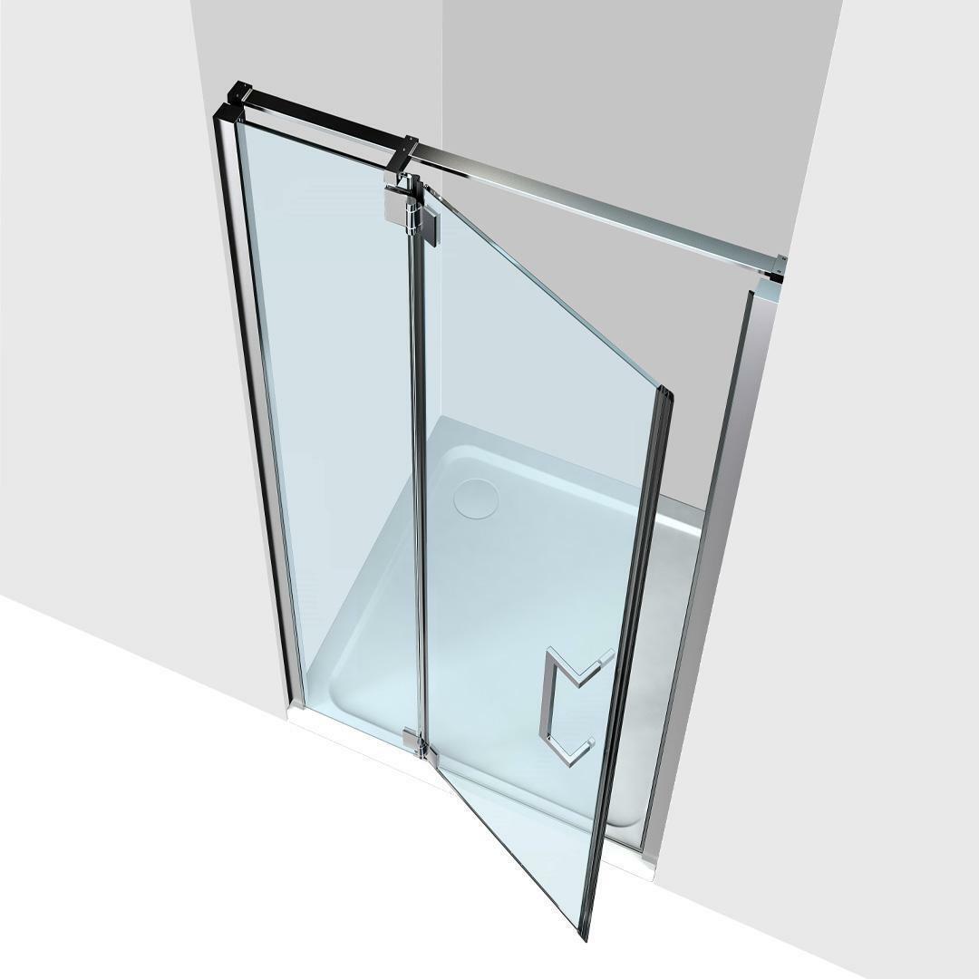 specialisti del bagno box doccia cannes nicchia porta battente 120 reversibile trasparente 8mm specialistidelbagno