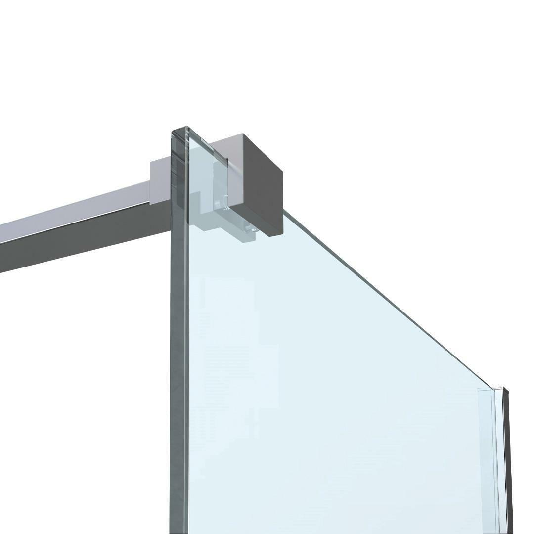 specialisti del bagno box doccia cannes parete fissa walk-in angolare 150 reversibile trasparente da 8mm specialistidelbagno