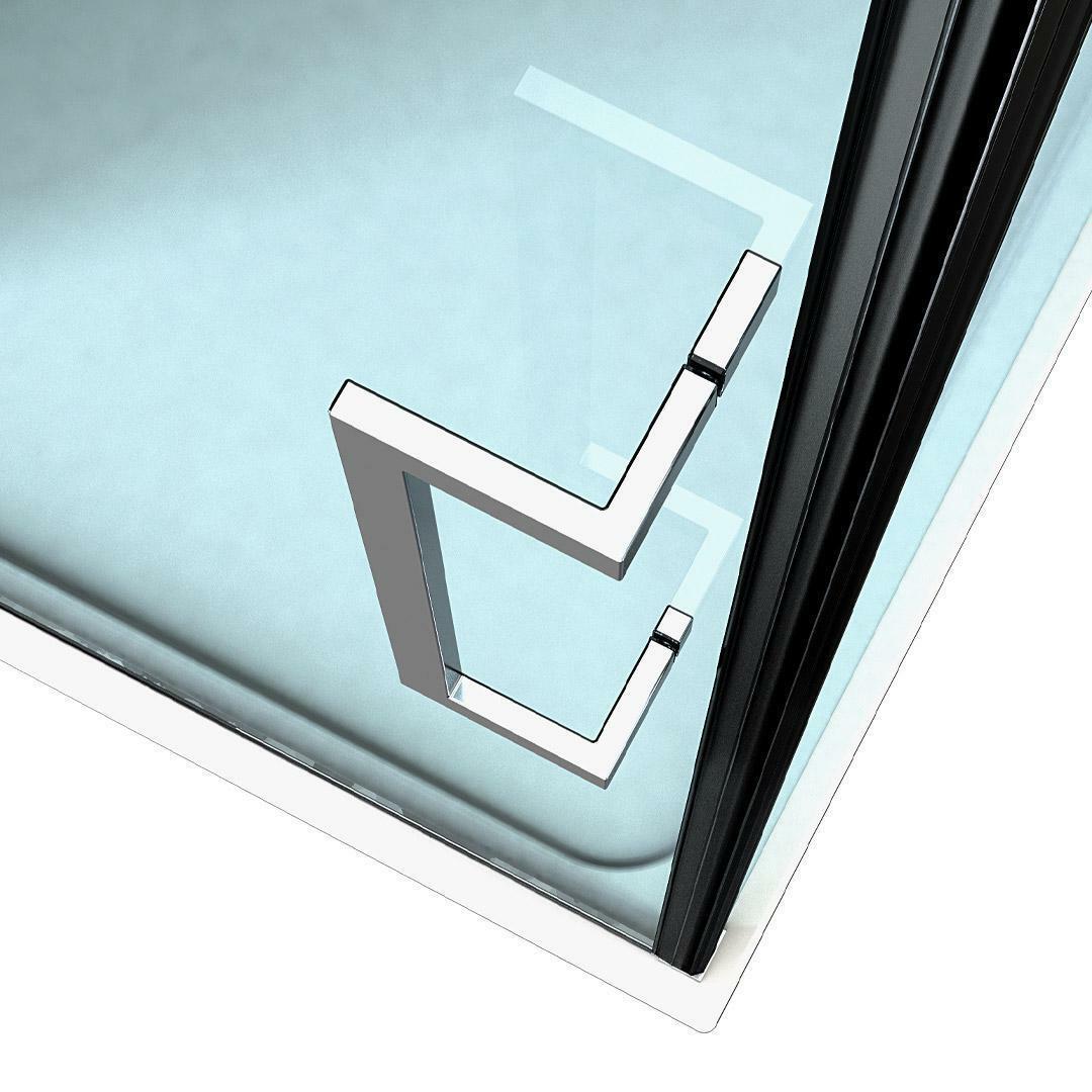 specialisti del bagno box doccia maiori porta saloon angolo 80x140 reversibile trasparente 8mm specialistidelbagno