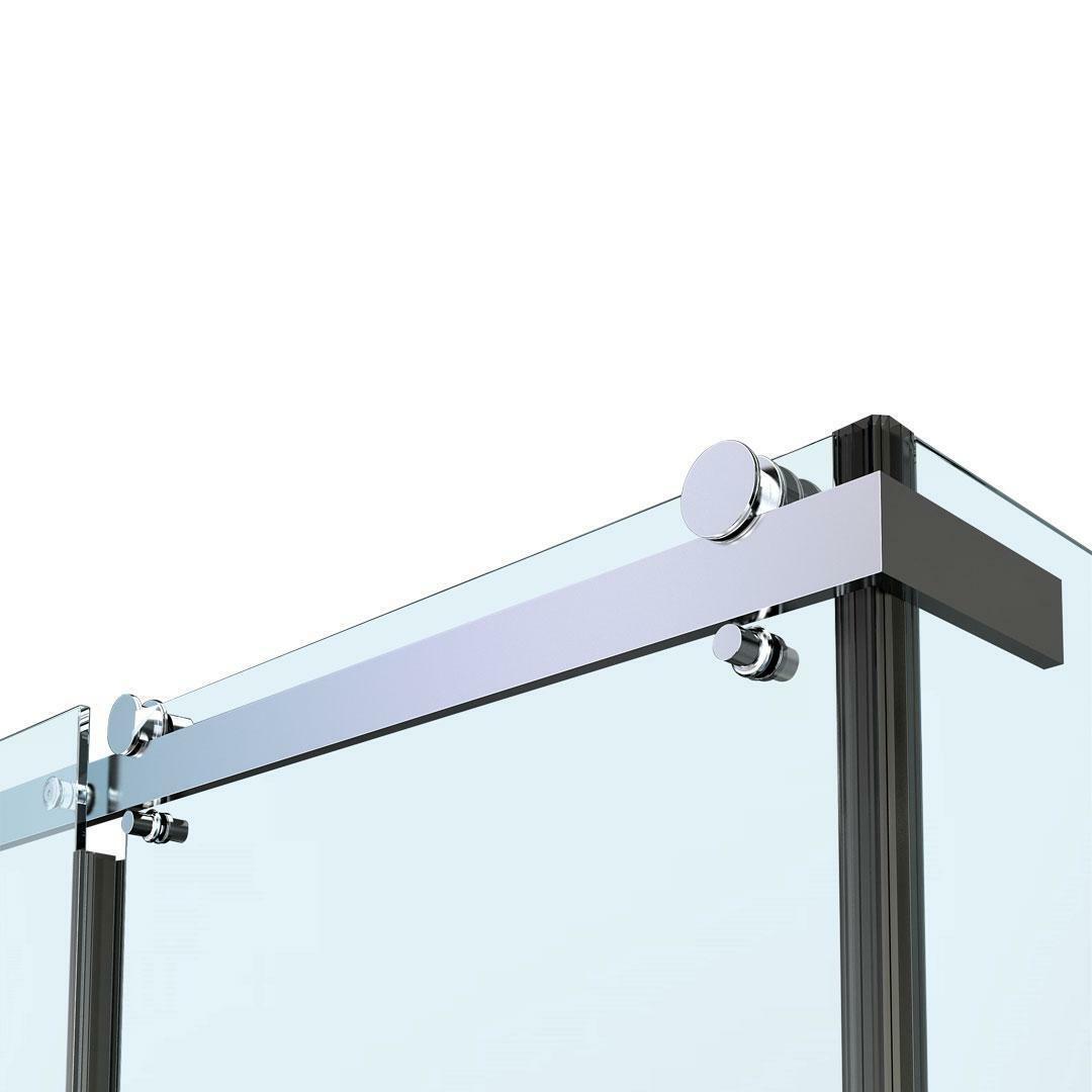 specialisti del bagno box doccia nizza porta scorrevole + fisso 90x110 reversibile trasp. 8mm specialistidelbagno
