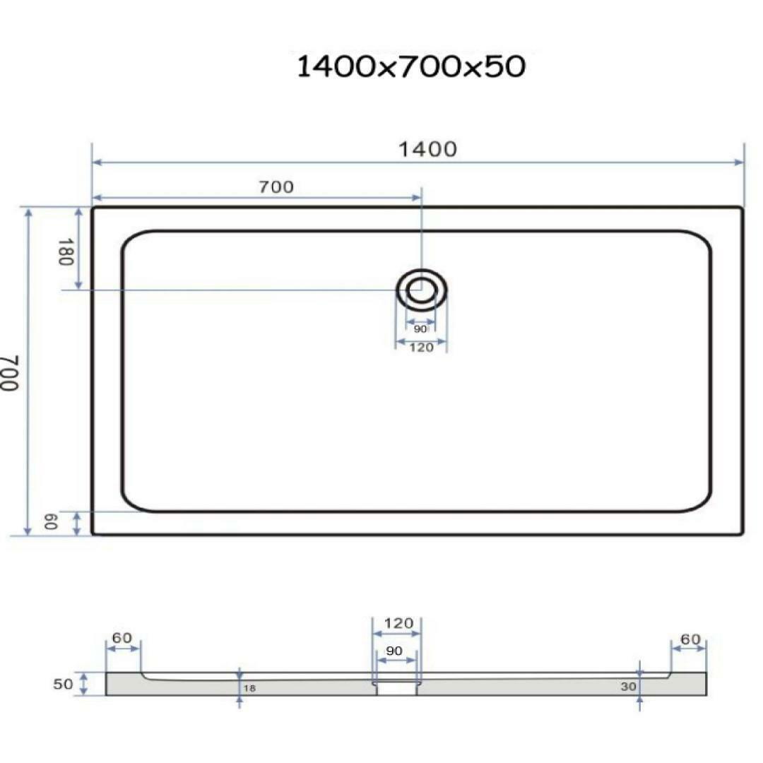 specialisti del bagno piatto doccia regular con bordo rettangolare 70x140 h5 specialistidelbagno