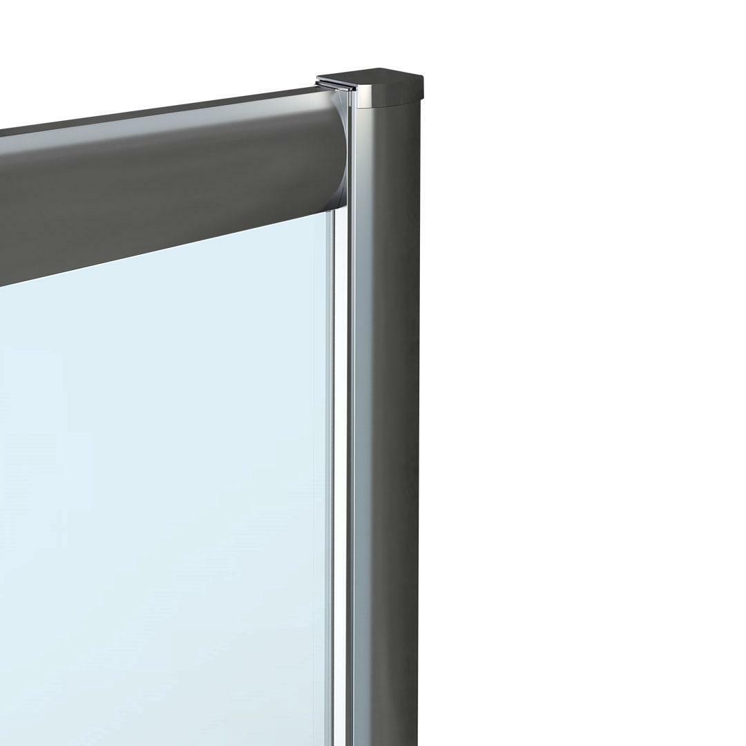 specialisti del bagno box doccia malaga porta scorrevole e lato fisso 90x130 reversibile trasp. specialistidelbagno