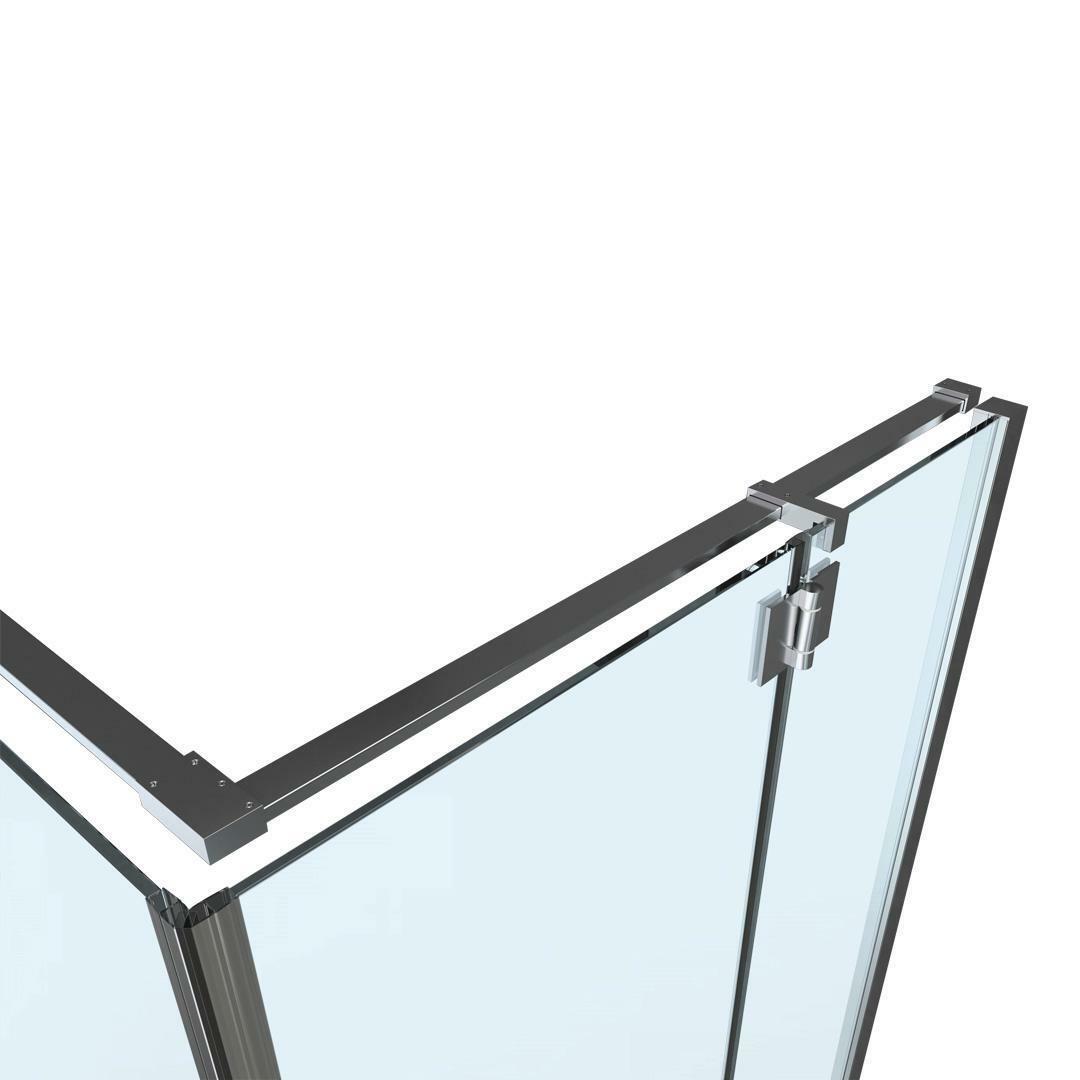 specialisti del bagno box doccia cannes angolo battente e fisso 8mm 90x100 reversibile trasparente specialistidelbagno