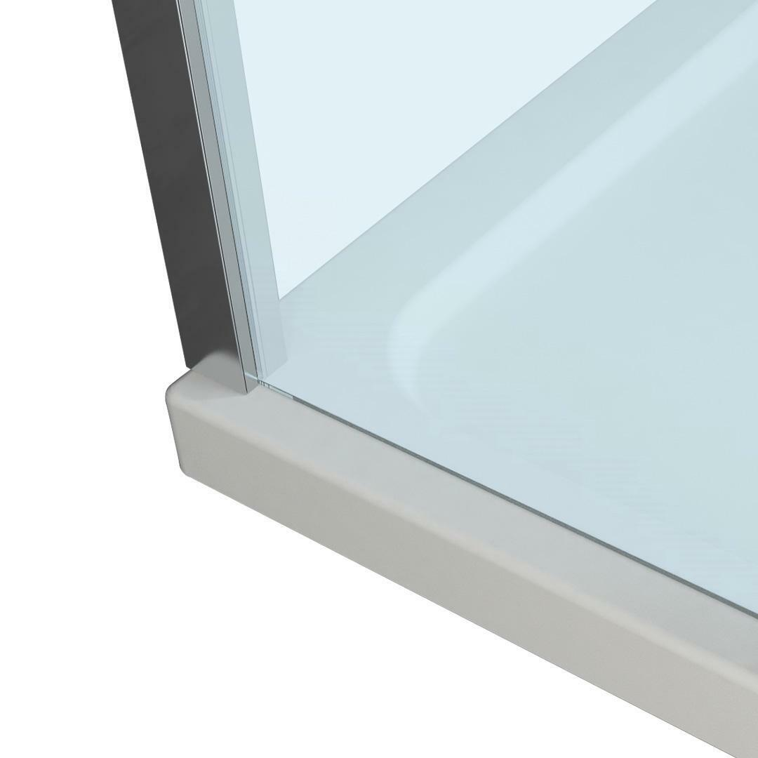 specialisti del bagno box doccia cannes parete fissa walk-in angolare 160 reversibile trasparente da 8mm specialistidelbagno