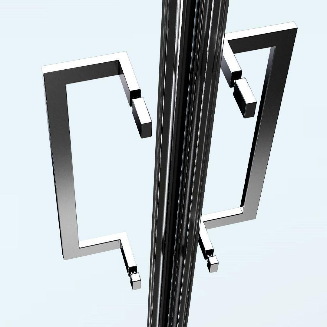 specialisti del bagno box doccia nizza porta scorrevole + fisso 80x130 reversibile trasp. 8mm specialistidelbagno