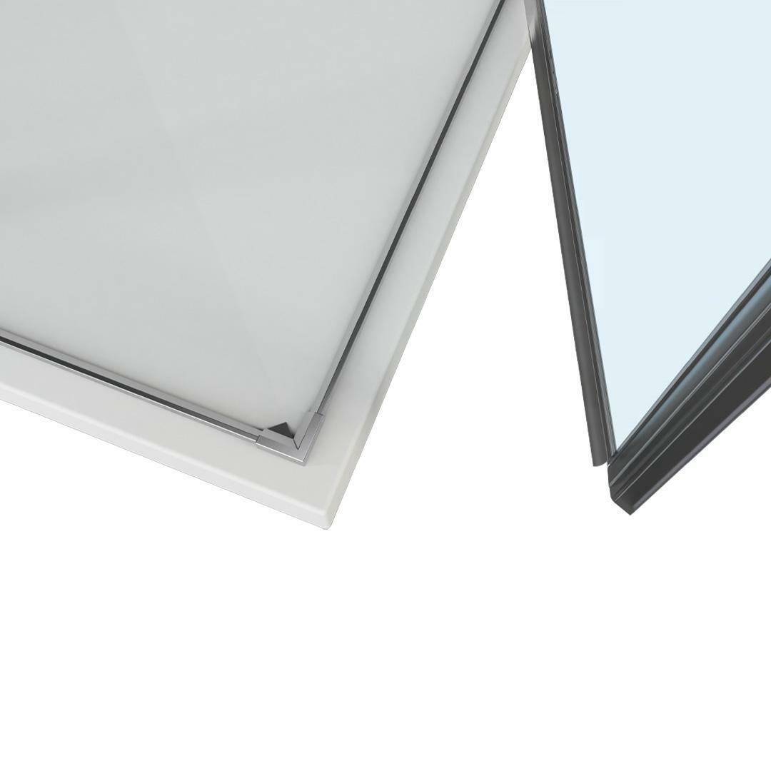 specialisti del bagno box doccia ostuni porta libro con fisso 70x70 reversibile trasp. 8mm specialistidelbagno