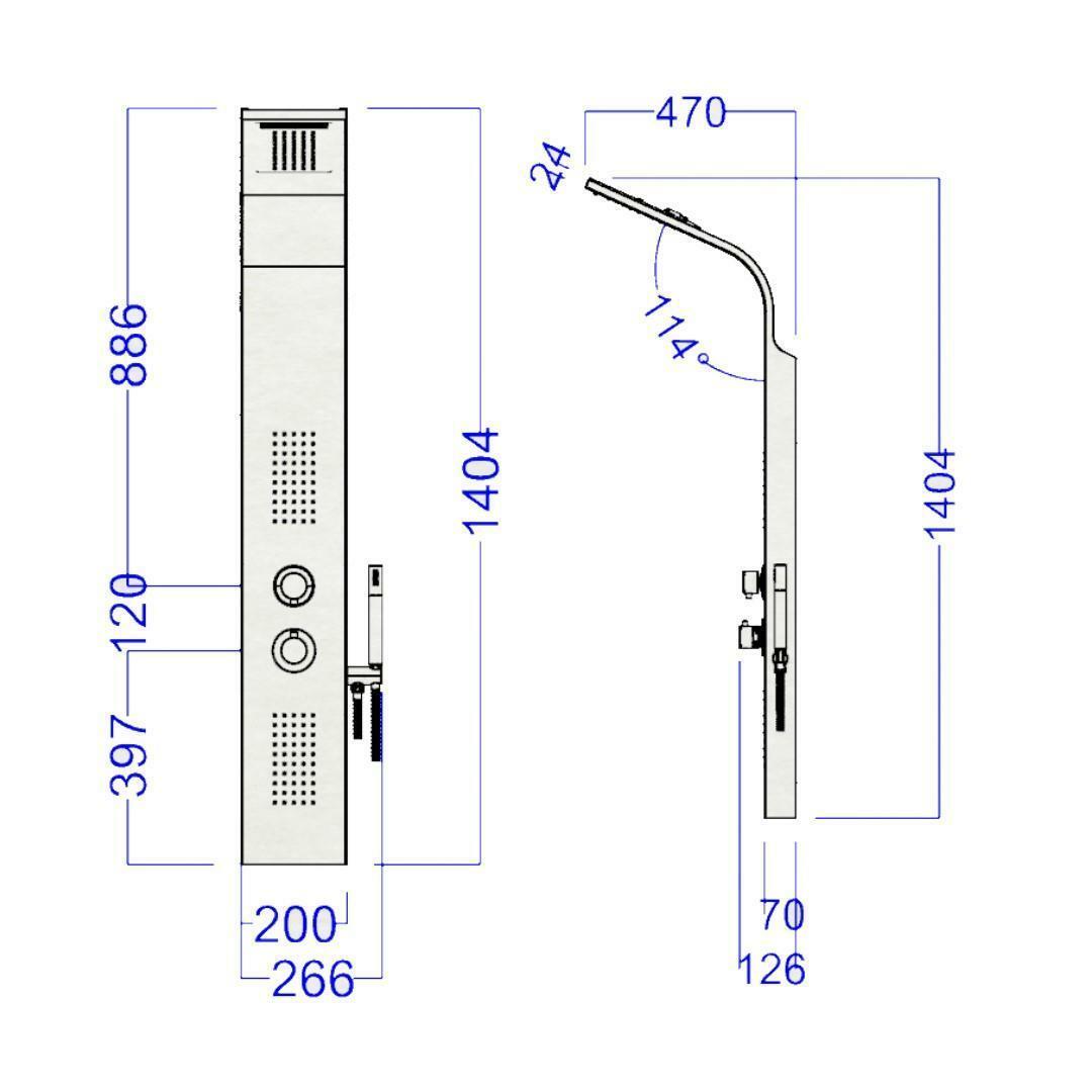 specialisti del bagno colonna doccia essential termostatica con cascata acciaio inox lucido specialistidelbagno