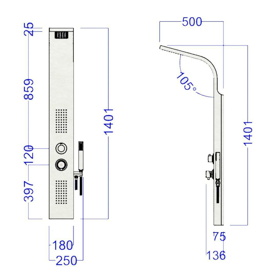 specialisti del bagno colonna doccia h2o manuale in abs termoformato specialistidelbagno