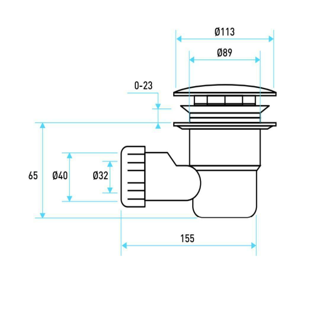 specialisti del bagno piatto doccia regular con  bordo semicircolare 90x90 h5 specialistidelbagno