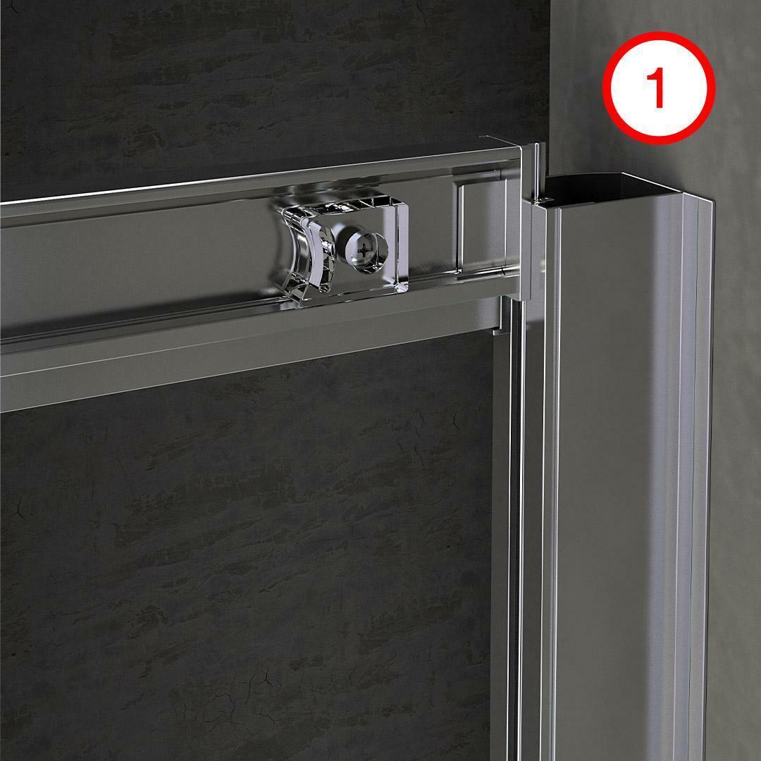 specialisti del bagno box doccia malaga doppia porta nicchia 150 reversibile trasp. specialistidelbagno
