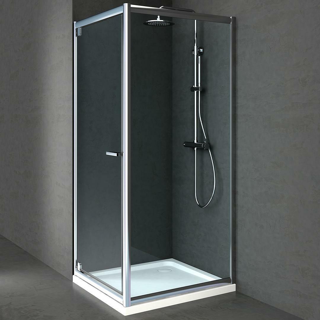 specialisti del bagno box doccia lepanto porta battente e lato fisso 70x75 reversibile trasp. specialistidelbagno