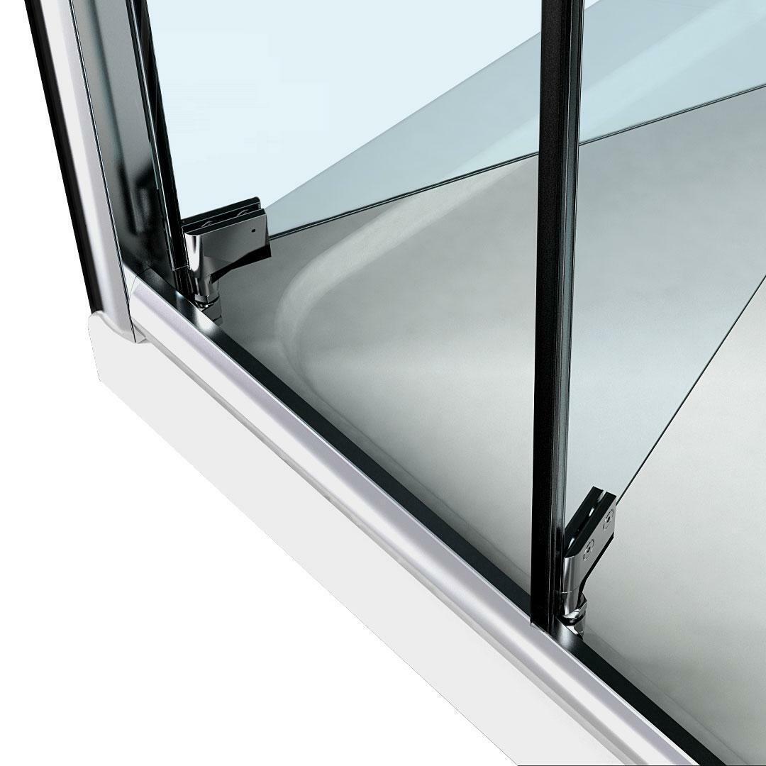specialisti del bagno box doccia cipro porta libro e lato fisso 90x90 reversibile trasp. specialistidelbagno