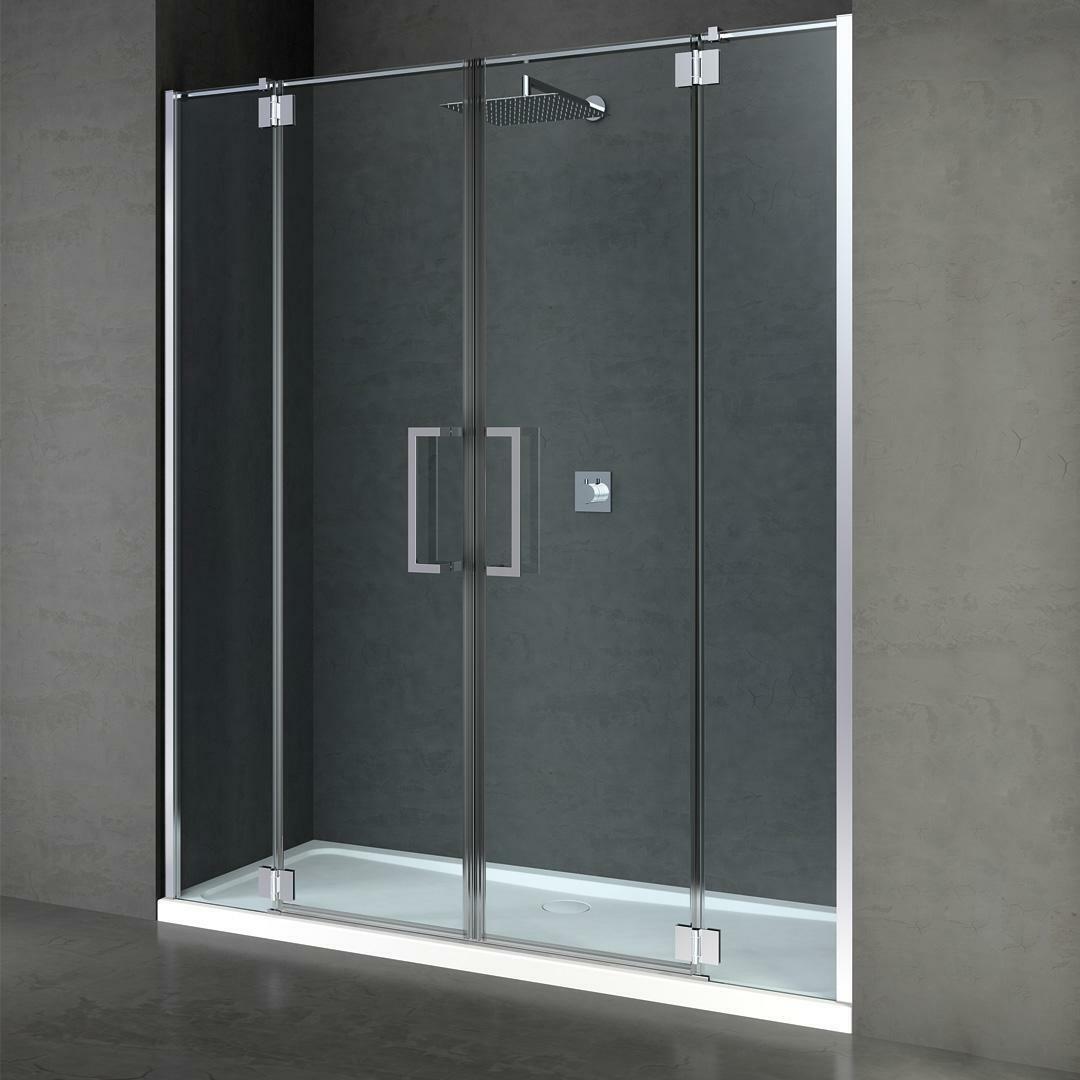 specialisti del bagno box doccia cannes nicchia doppia porta battente 200 reversibile trasparente 8mm specialistidelbagno