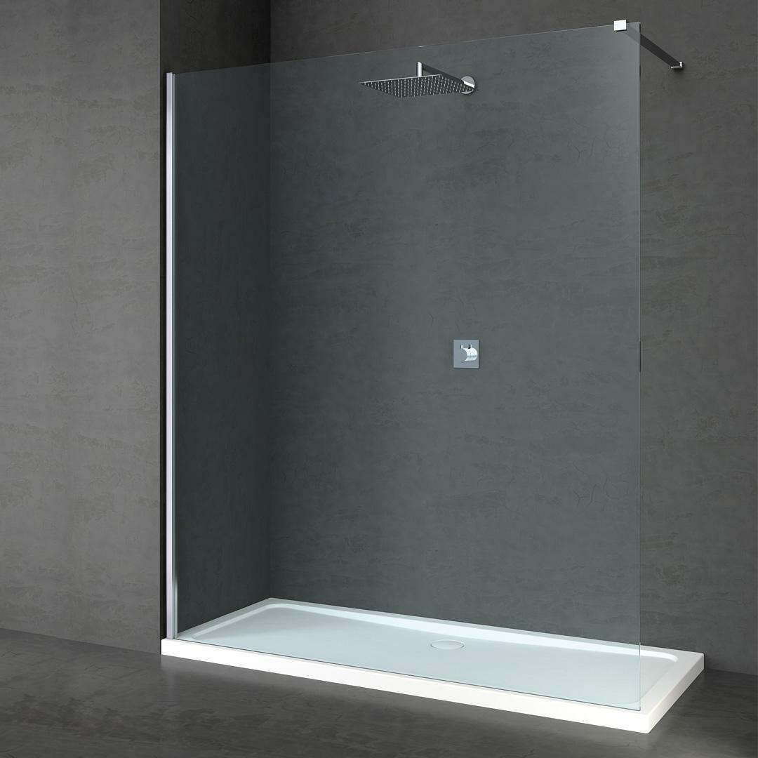 specialisti del bagno box doccia cannes parete fissa walk-in angolare 100 reversibile trasparente da 8mm specialistidelbagno