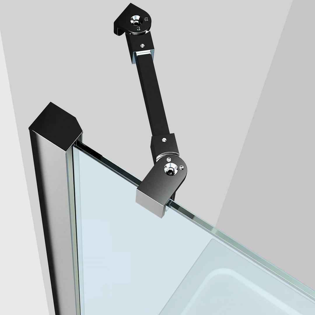 specialisti del bagno box doccia maiori porta saloon angolo 80x150 reversibile trasparente 8mm specialistidelbagno