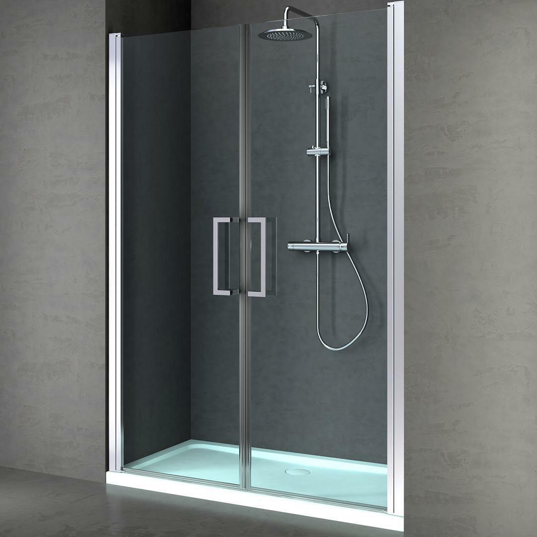 specialisti del bagno box doccia maiori porta saloon nicchia 160 reversibile trasparente 8mm specialistidelbagno