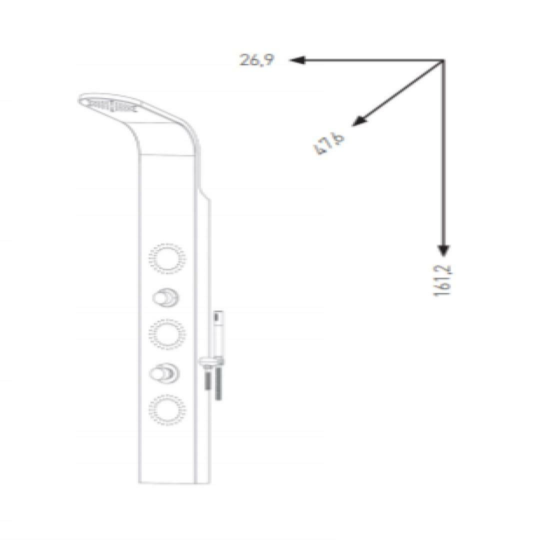 specialisti del bagno colonna doccia master termostatica con design stondato acciaio inox satinato specialistidelbagno