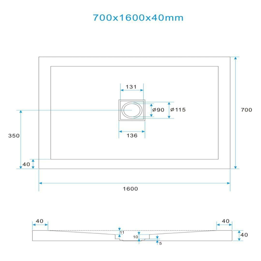 specialisti del bagno piatto doccia diamond flat senza bordo rettangolare 70x160 h4 specialistidelbagno