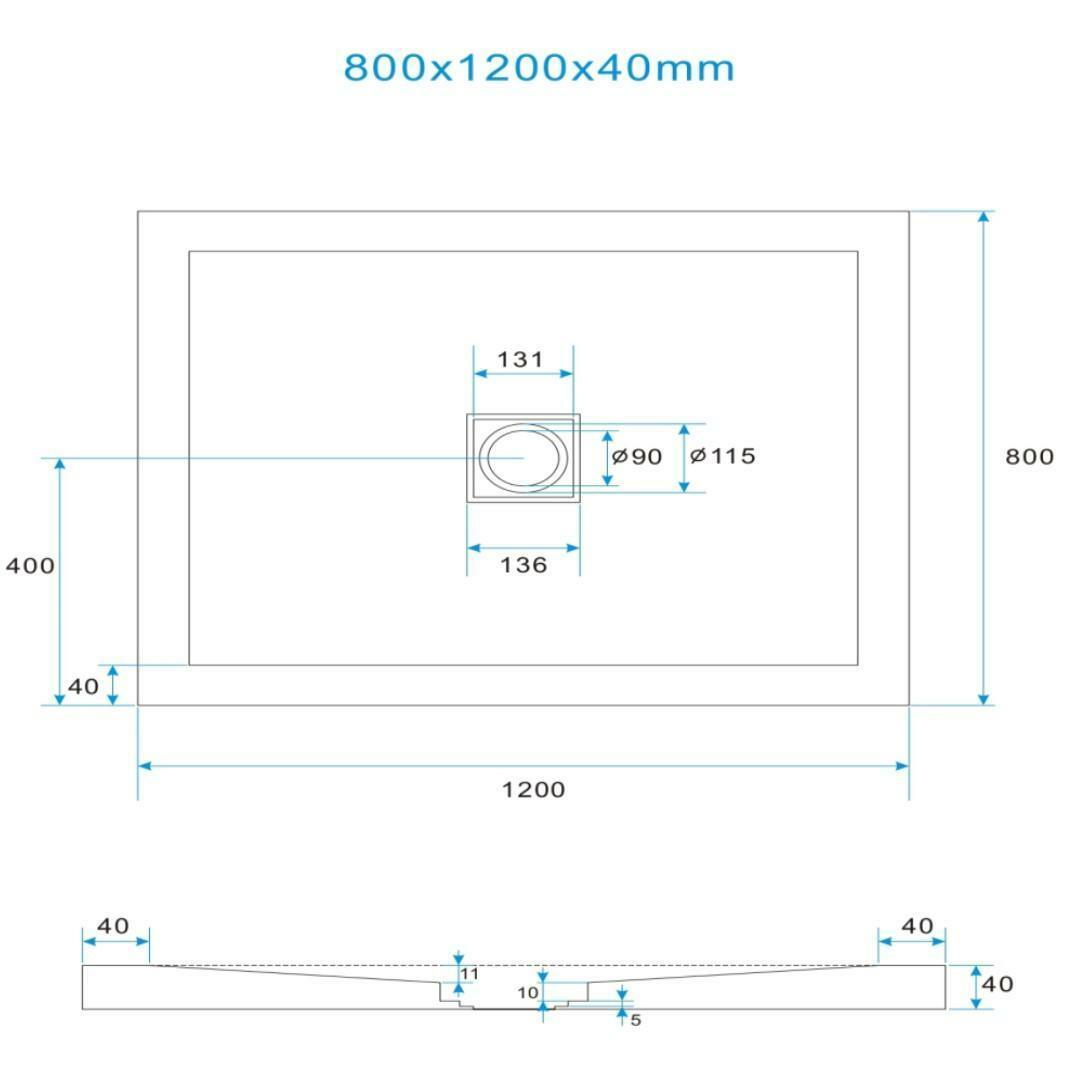 specialisti del bagno piatto doccia diamond flat senza bordo rettangolare 80x120 h4 specialistidelbagno