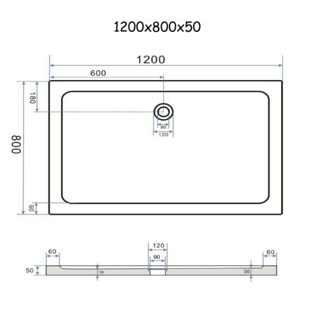 specialisti del bagno piatto doccia regular con bordo rettangolare 80x120 h5 specialistidelbagno