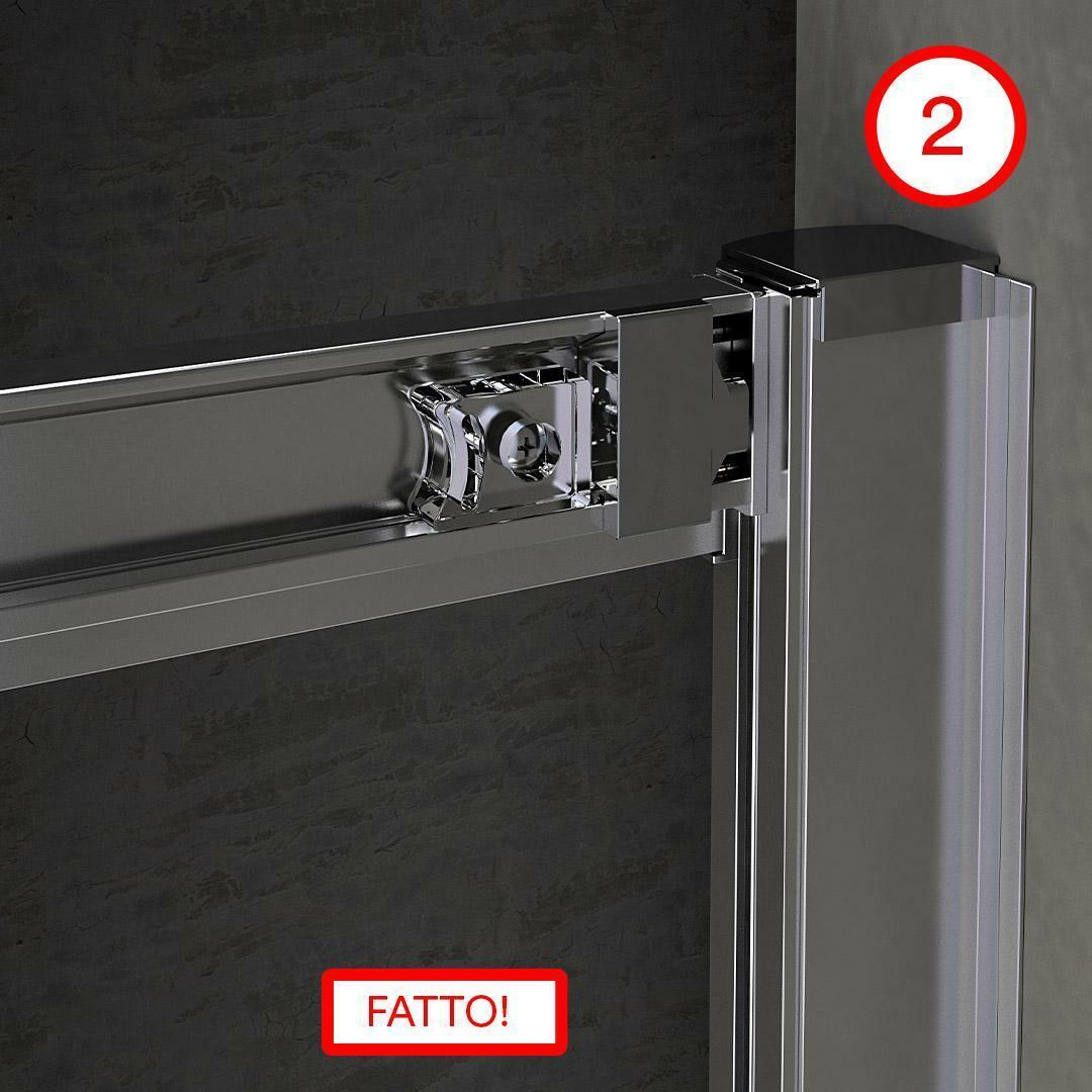 specialisti del bagno box doccia malaga doppia porta nicchia 170 reversibile trasp. specialistidelbagno