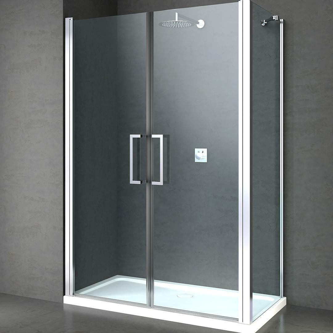 specialisti del bagno box doccia minori porta saloon e lato fisso 90x90 reversibile trasparente specialistidelbagno