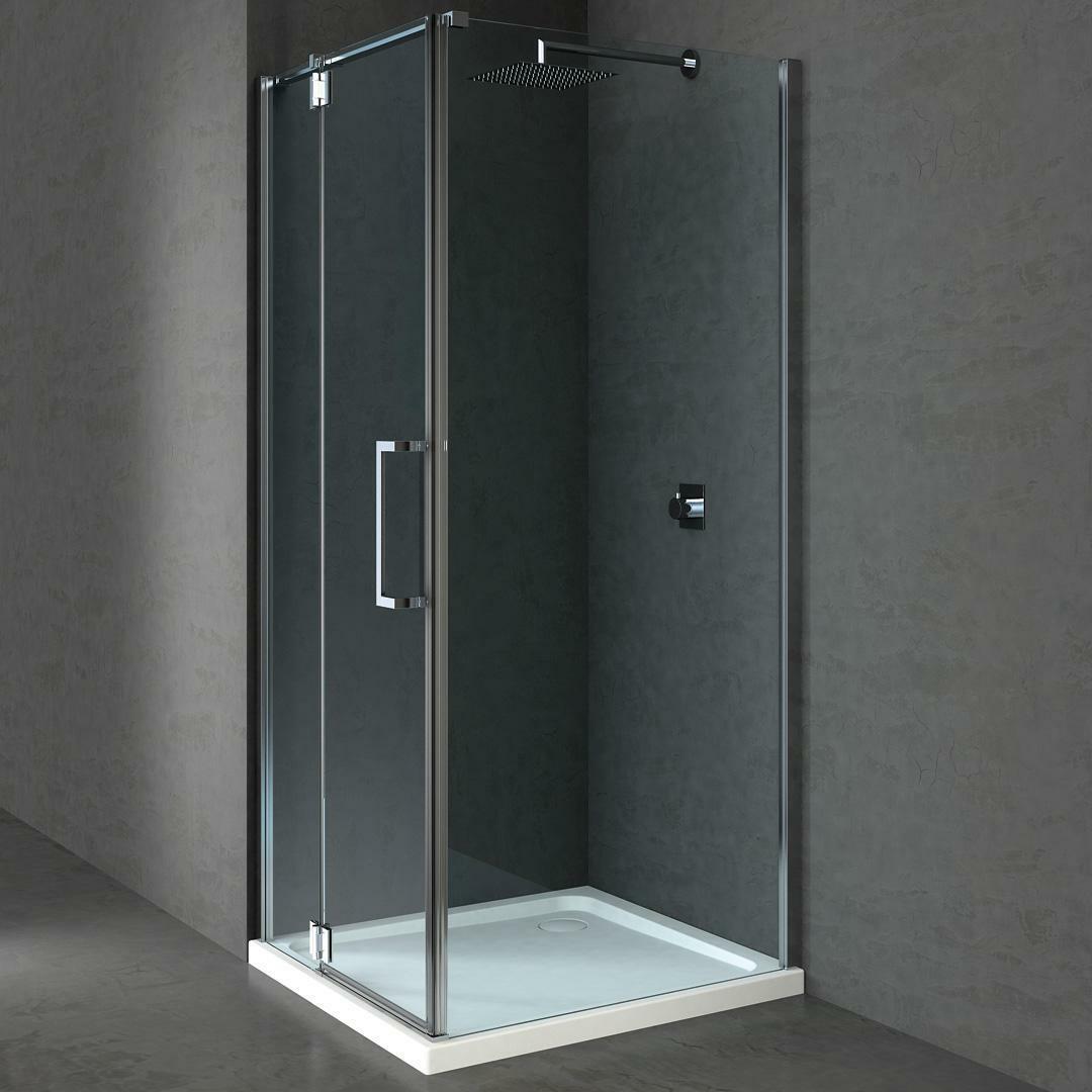 specialisti del bagno box doccia cannes angolo battente e fisso 8mm 80x100 reversibile trasparente specialistidelbagno