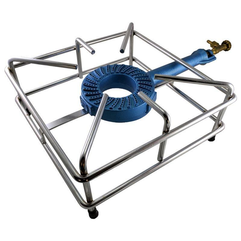bierrestore fornello fornellone 40 x 40 bruciatore ghisa gas gpl telaio rinforzato 12mm