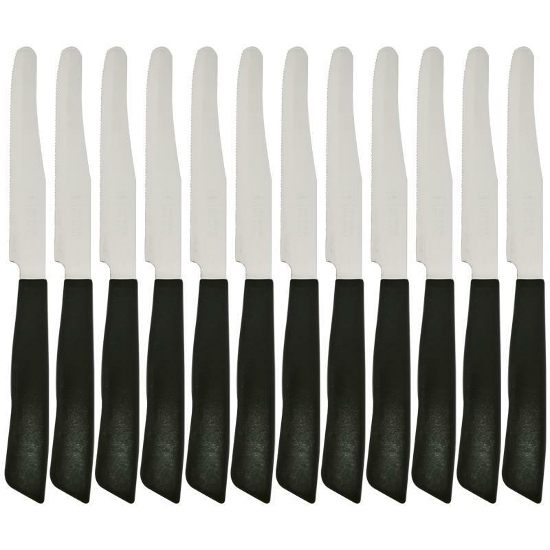 bonomi coltello inox bonomi da tavola 12pz nero