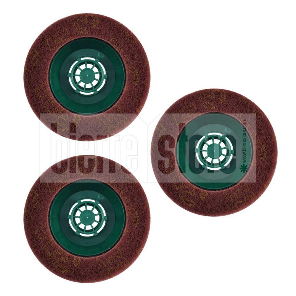 bierre store pad 3x spazzole abrasive ricambio lucidatrice folletto pl510 pl511 pl512 pulilux compatibile