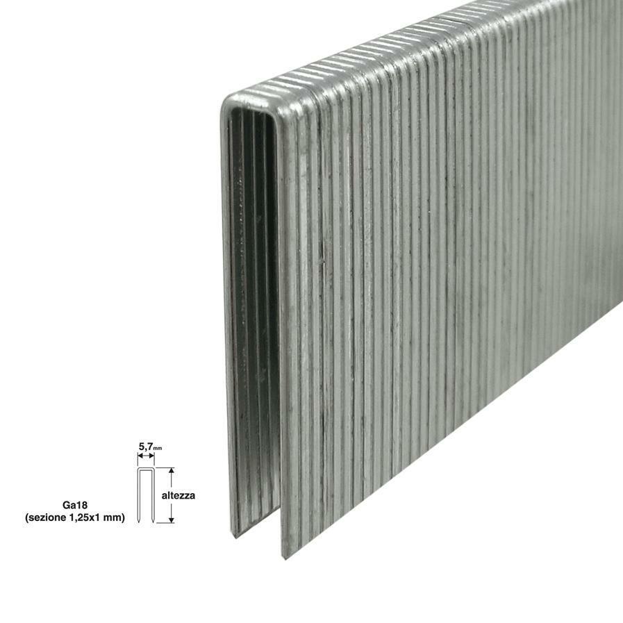 valex punti per puntatrice chiodatrice valex 1000pz 5,7x32mm