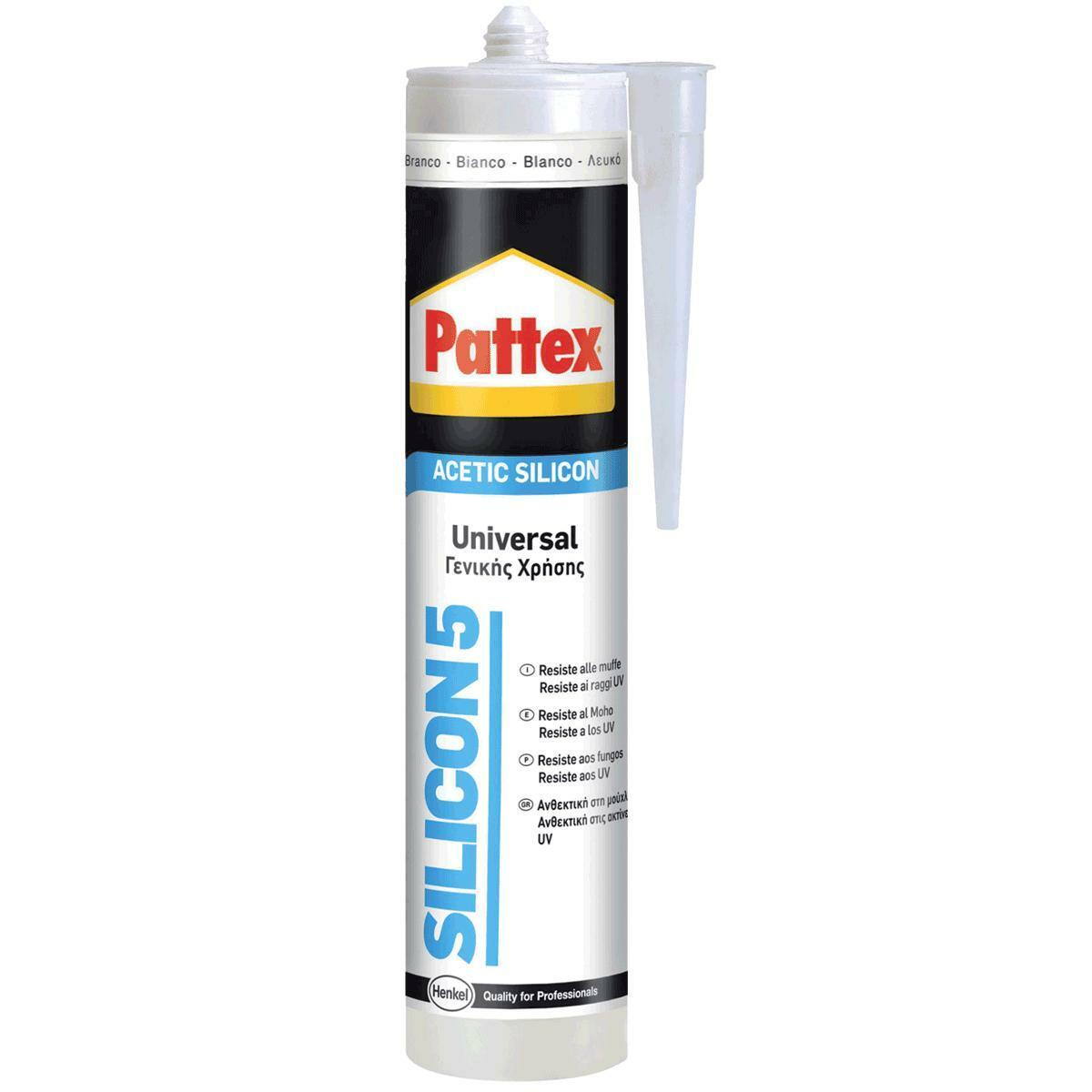 pattex silicone universale acetico pattex silicon5 bianco