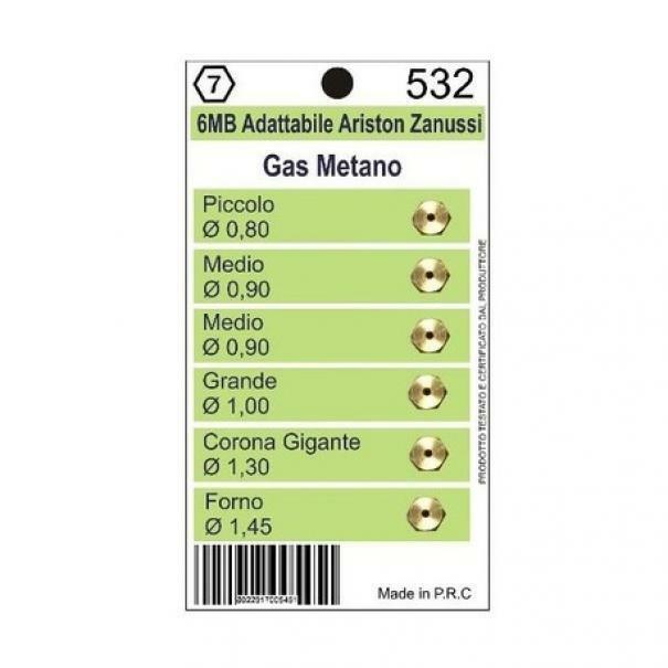 ariston zanussi ugelli gas metano cucine ariston zanussi 6mb 5pz 532