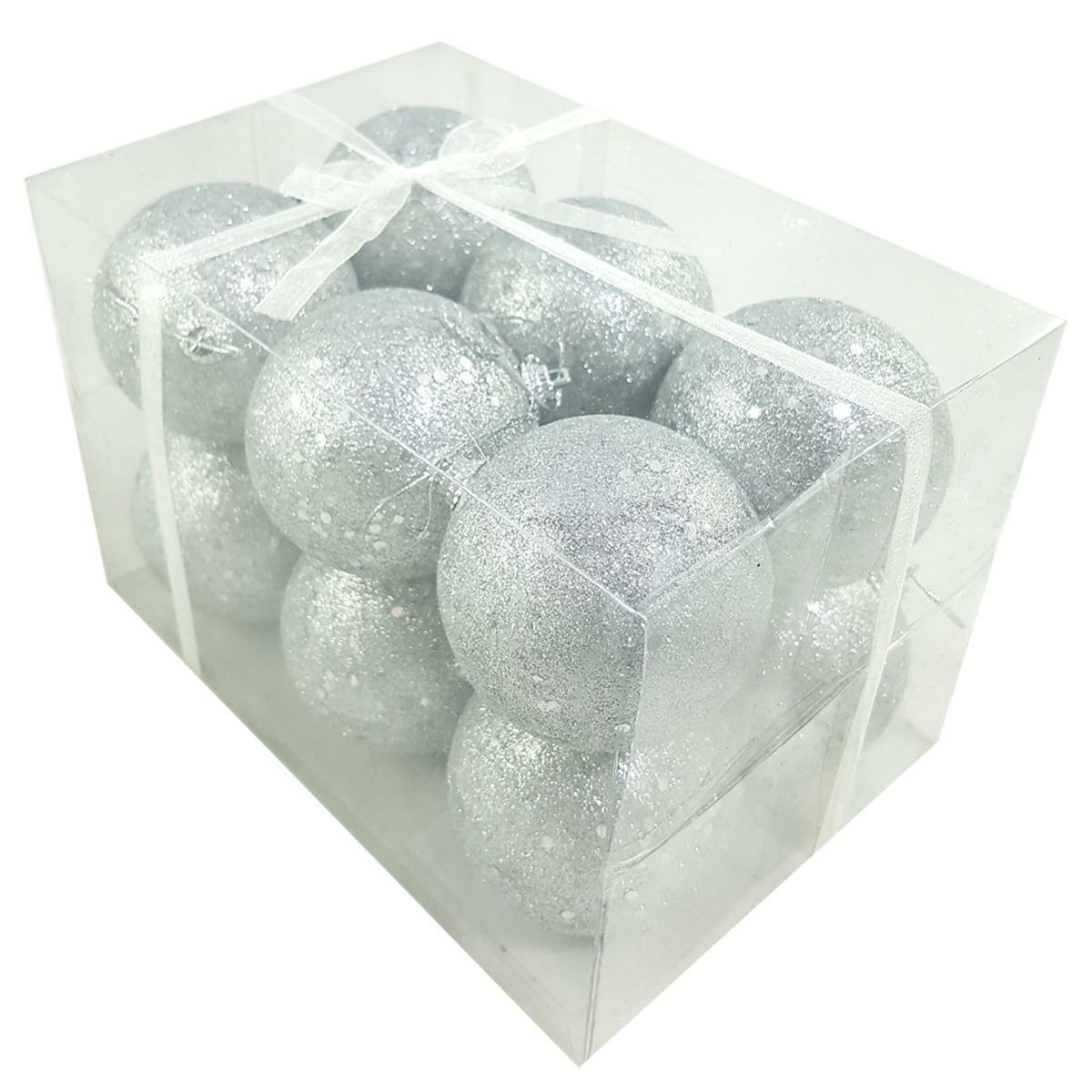 bierre store box 12 pezzi palline argento