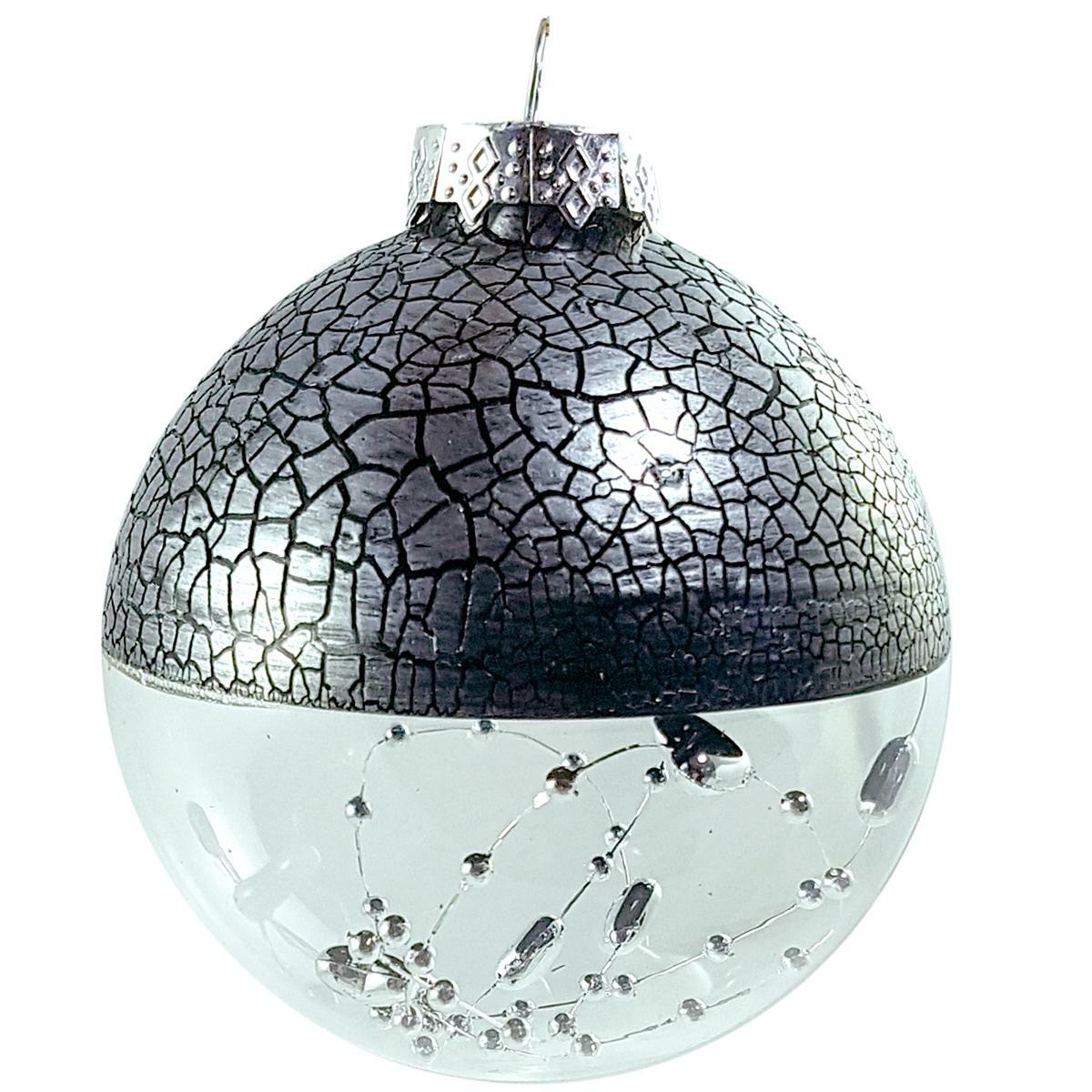 bierre store palla in vetro silver 8cm