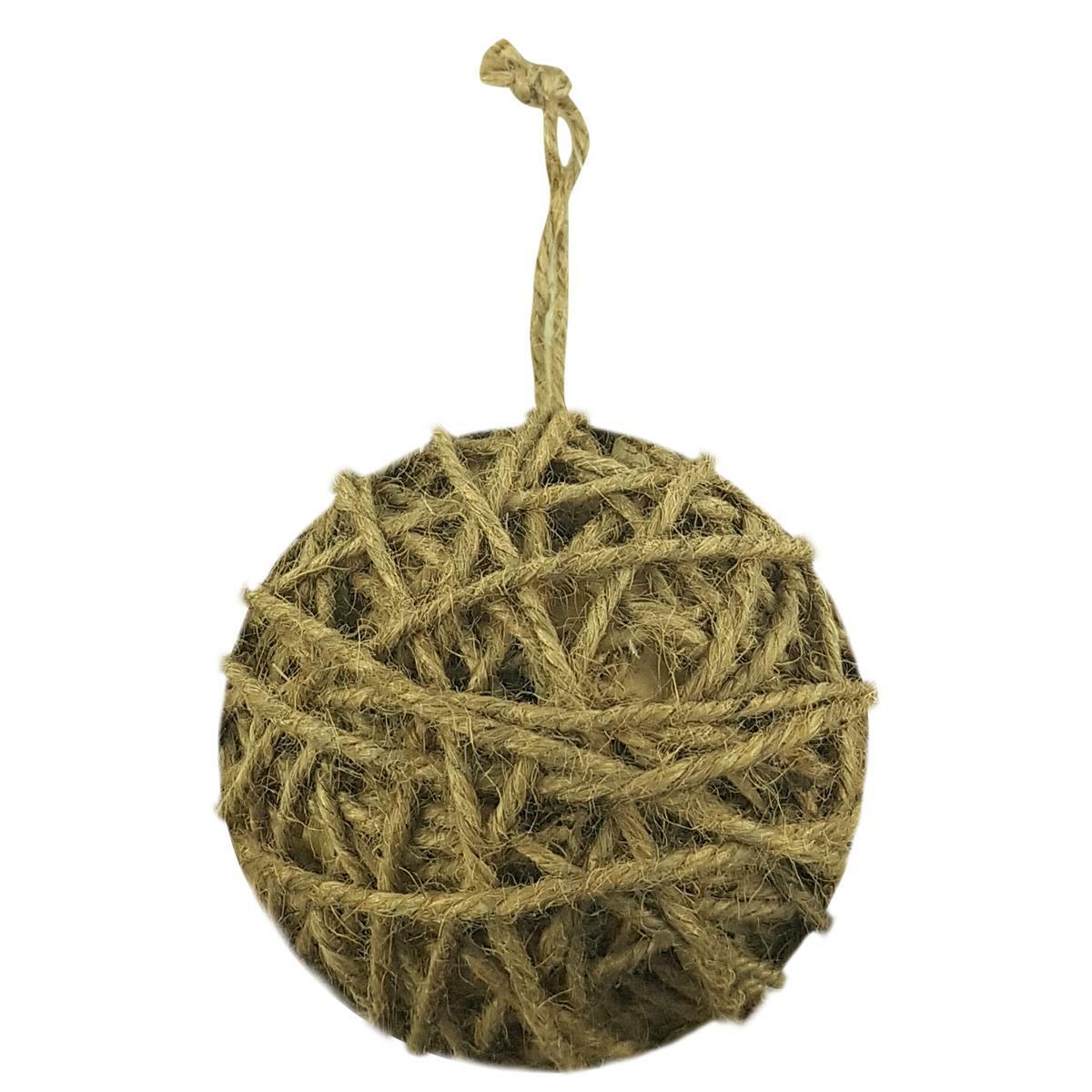 bierre store palla di natale in juta naturale 10 cm