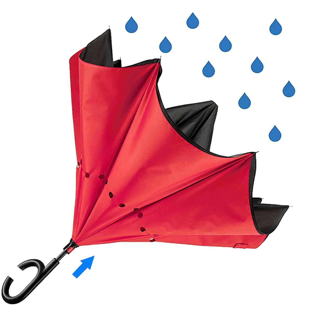 bierrestore ombrello inverso reversibile rosso