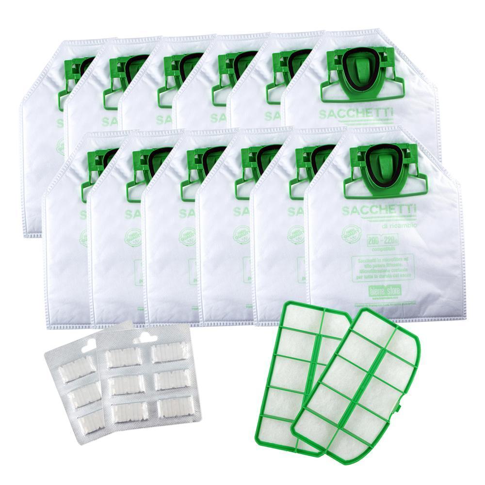 bierre store sacchetti folletto vk 200 vk 220 s con 12 sacchetti profumi e 2 filtri vk220s compatibile