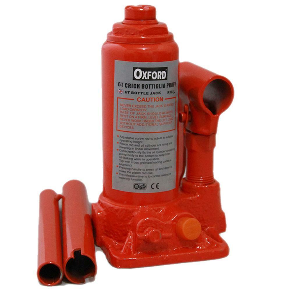 oxford cric a bottiglia portatile 6000kg in valigia oxford