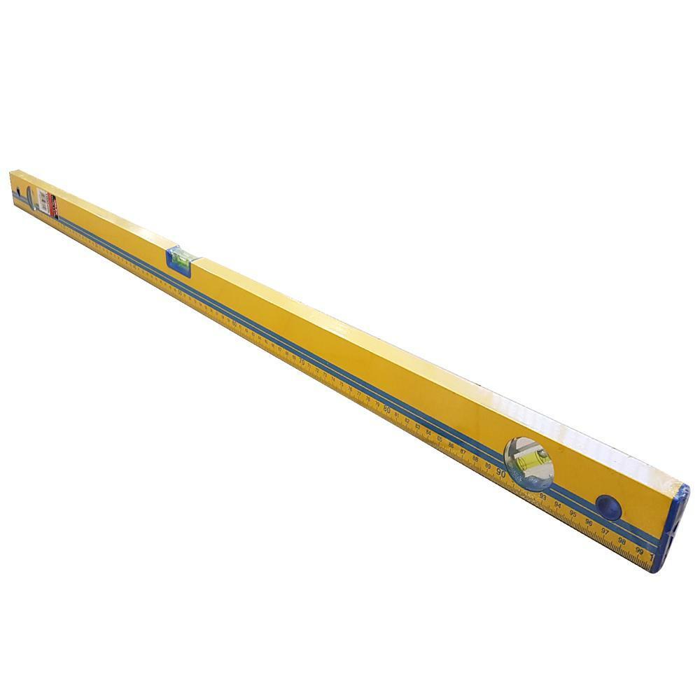 valex livella in alluminio millimetrato 1 metro gialla