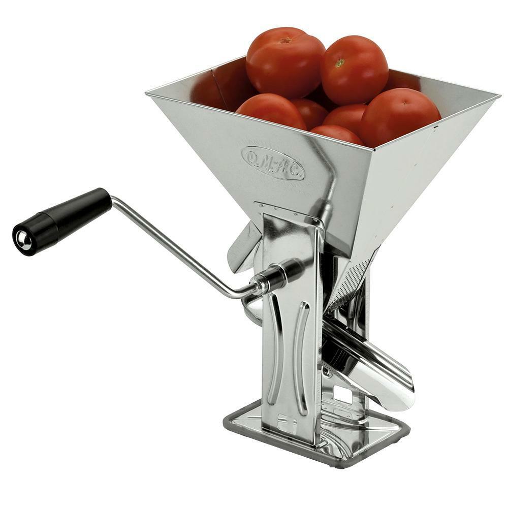 omac passa pomodoro in acciaio inox 18/10 gulliver omac