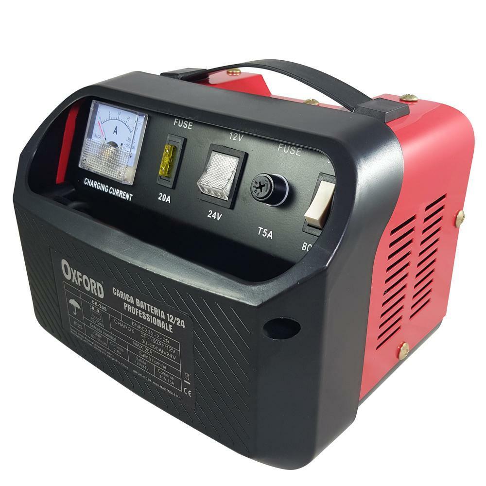 oxford carica batterie portatile 12v 24v 180w 12a