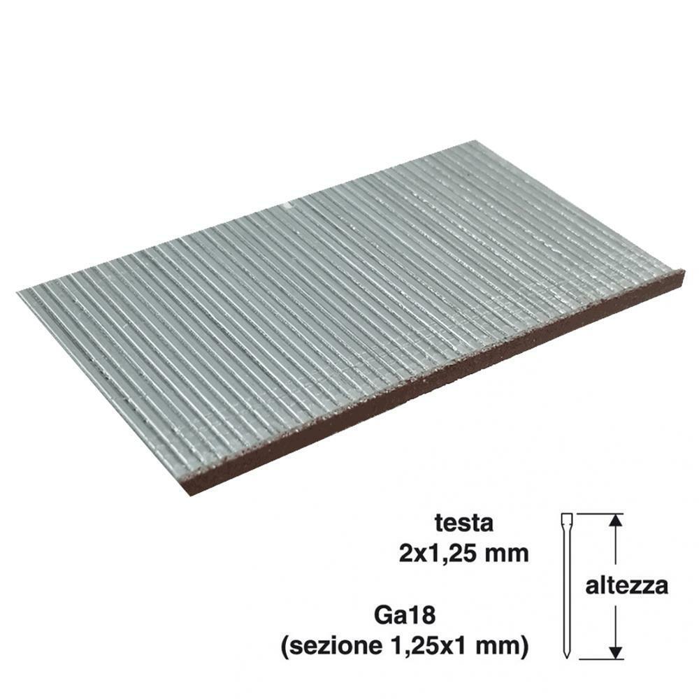 valex chiodi per chiodatrice valex 40mm testa 2x1,25mm 1000pz