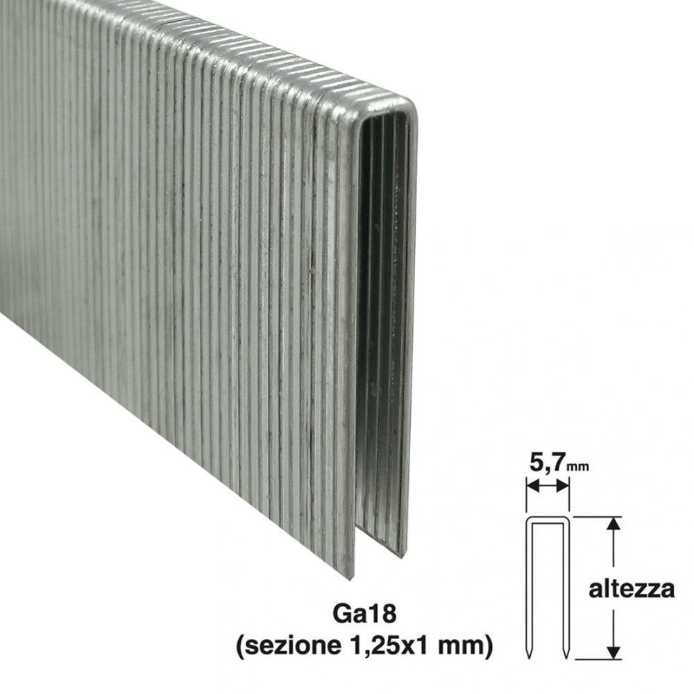 valex punti per puntatrice valex 5,7x25mm 1000pz
