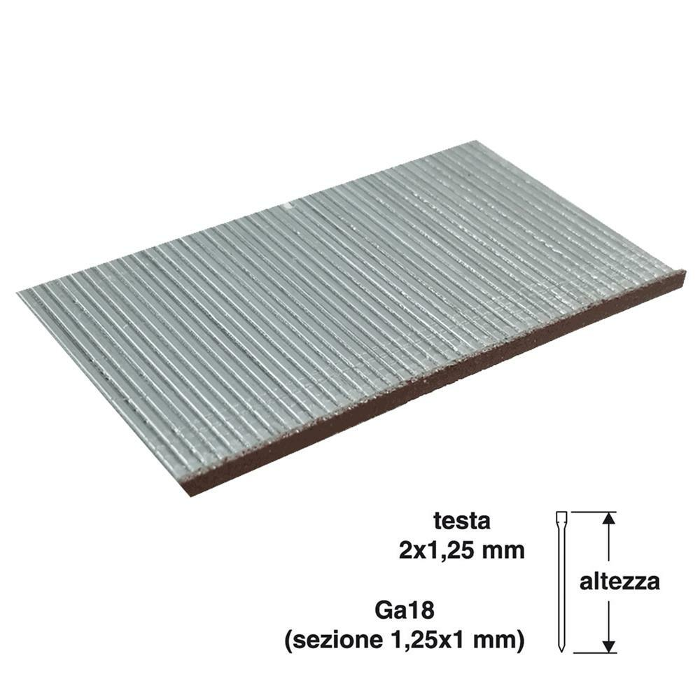valex chiodi per chiodatrice valex 50mm 2x1,25mm 1000pz