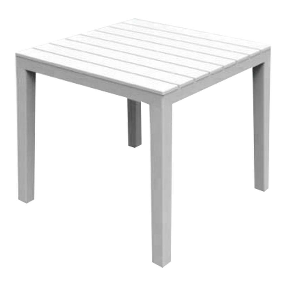 fraschetti tavolo in resina da esterno dogato bali bianco