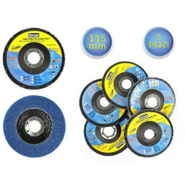 oxford set dischi lamellari abrasivi 115 mm varie grane